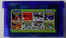 Pokemon Emerald Ruby Sapphire Leaf Green Fire Red Metroid 24 in 1 GBA