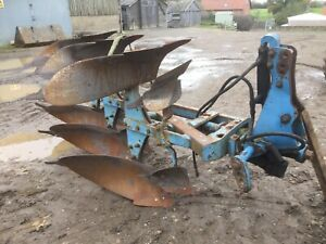 Ransomes Ts 103 Plough With Depth Wheel Ford Tractor