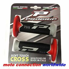 Pro Grip 788 compuesto Tri Motocross Enduro Apretones de Manillar Rojo Cr Crf Rm H.