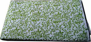Indian Hand Block Floral Print 5 Yard  Print Cotton  Fabric Boho Craft Fabric