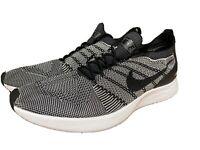 🔥Nike Air Zoom Mariah Flyknit Racer Men's Running Shoes Black White 918264-015