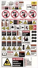 Machinery Sticker Sets For Forklifts 30 Assorted Decals MS010
