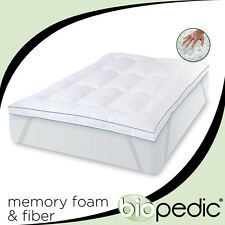 """Full Size 3"""" Inch Deluxe Memory Foam Mattress Protector Bedding Bed Pad Topper"""