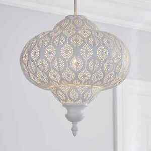 Moroccan Twist Lucena White Easy Fit Pendant For Home Decoration.