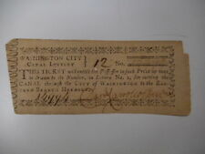 Daniel Carroll Signed Document, Lottery Ticket for Funding Washington DC Canal