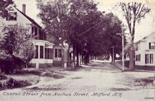 HOMES ON CLINTON STREET FROM NASHUA STREET MILFORD, NH publ by The Boston Store