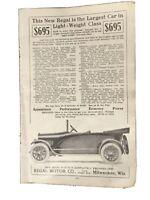 VINTAGE PRINT AD , 1917 ,  REGAL MOTOR CO ,,MILWAUKEE - ORIGINAL