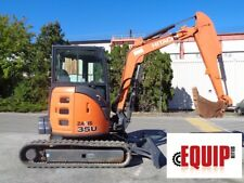 2015 Hitachi Zaxis 35U-5N Mini Excavator - Enclosed Cab - Auxiliary Hydraulics
