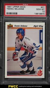 1991 Upper Deck Hockey Teemu Selanne ROOKIE RC #21 PSA 10 GEM MINT
