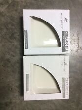 2 - American Olean Ceramic Tile Corner Shelf Bath/Shower (AO11BA765CC1P) Biscuit