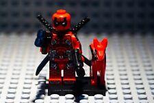Deadpool Origins + Dog Minifigure Marvel Super Heroes  Mini Figure Custom Lego