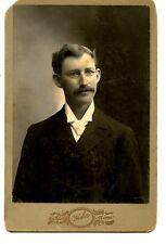Young Man-Glasses-Haber Studio-Northfield-Minnesota-Vintage Cabinet Photograph