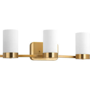 Progress Lighting Elevate Collection 3Light Brushed Bronze Bathroom Vanity Light