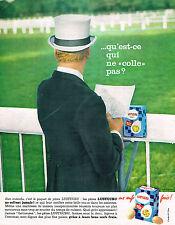 PUBLICITE ADVERTISING 114  1963  LUSTUCRU  pates qui ne collent pas