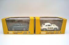 BRUMM Die Cast Metal 1/43 1956 Porsche 356 Coupe & Mille Miglia 2 Cars For 1 Bid