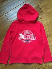 NWT ***REAL*** CHRISTIAN DIOR HOODED ZIP FRONT BIG LOGO HOODIE CARDIGAN - 8A