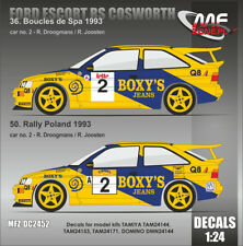 DECALS 1/24 FORD ESCORT COSWORTH - #2- DROOGMANS - SPA / POLOGNE 1993 - DC2452
