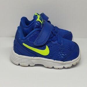 Nike Fusion Run 3 Infant Toddler Boy's 2C Blue Green Running Sneakers 654154-401