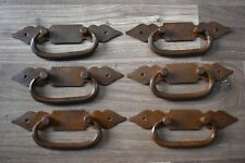 Vintage Handmade Victorian Gothic Iron Door Pull Handles Knocker Vintage 6 pic
