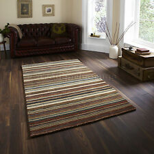 Think Rugs Oxford Ox-10 100 Wool Hand Loomed Rug Natural / Multi W120cm X L180cm
