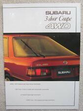 Subaru 3 door Coupe 4WD brochure c.1985