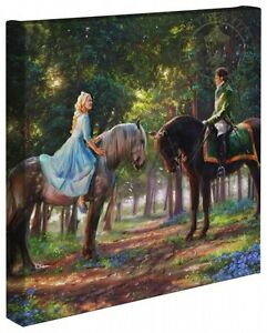 Thomas Kinkade Studios Cinderella Romance Awakens 14 x 14 Gallery Wrap Canvas