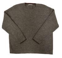 Smartwool Women's Gray Brown Crew Neck 100% Merino Wool Sweater Size Large