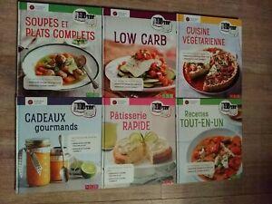 Lot de 6 Livres de recettes Monsieur Cuisine CONNECT  ÉTAT NEUF intégrale