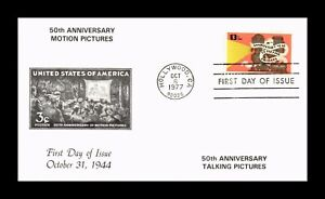 DR JIM STAMPS US MOTION PICTURES ANNIVERSARY FIRST DAY ISSUE COVER