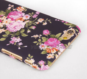 iPhone 6 Girl Case,3D vintage Flower Pattern Nonslip Matte Back Night light Skin