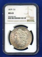 1879 P NGC MS63 Morgan Silver Dollar $1 US Coin 1879-P NGC MS-63 PQ !