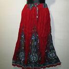 Skirt Fit S M L XL XXL Plus Broomstick Red Blue Dashiki Africa Print Long NWT ii