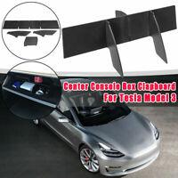 Car Passenger Side Console Organizer Glove Box Clapboard Black For Tesla Model 3