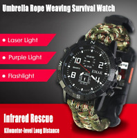 Outdoor Survival Wrist Watch Tactical Bracelet Hunting camping hiking Emergency