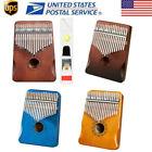 17 Keys Kalimba Thumb Piano Solid Mahogany Hand Percussion with Tune Hammer Gift