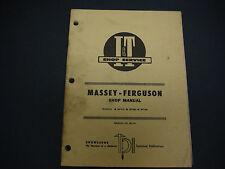 I & T Shop Service Manual, Massey-Ferguson MF-41 MF670 MF690 MF698