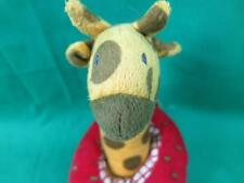 IKEA BABY GIRAFFE STRAWBERRY CAR RATTLE FABLER SOFT PLUSH STUFFED ANIMAL TOY