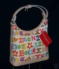 Dooney & Bourke White Heart/Stars Doodle SMALL HOBO NWT