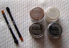 4 X NYC Mineral Eye Powder Espresso Cocoa Black Frosty
