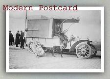 Red Cross Ambulance and a Dog (France, 1908) Modern Postcard