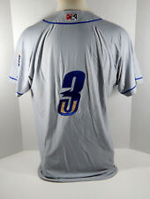 2019 Omaha Storm Chasers Nicky Lopez #3 Game Issued Grey Jersey OSC0041