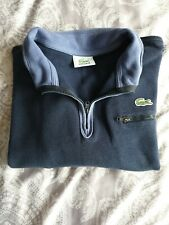Genuine NAVY LACOSTE boys JUMPER sweater zip knitted top blue AGE 10 designer