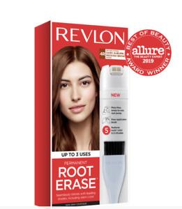 Revlon Permanent Root Erase, 4R Dark Auburn Reddish Brown, Up To 3 Uses