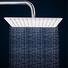 12''Square Stainless Steel Rain Shower Head Chrome Bathroom Top Sprayer Faucet