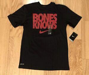 NIKE Jon Jones BONES KNOWS Mens Shirt Size M NWT RARE UFC Dri Fit MMA Champion