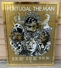 New listing Framed Portugal The Man Fall 2010 Tour Poster. Includes gold frame.