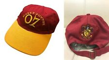 Harry Potter Quidditch 07 Gryffindor Baseball Hat Cap Adjustable Teen Crest New