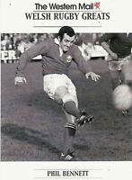"""Phil Bennett, Wales WESTERN MAIL """"Welsh Rugby Greats Collection"""" Rugby Card"""