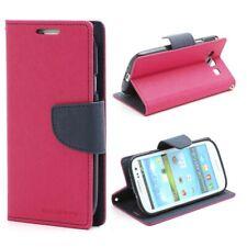 Samsung Galaxy S3 / III I9300 Wallet Case- Rose/Dark Blue