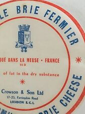 Antique Packaging Label French Brie Cheese Paper Graphics Vintage